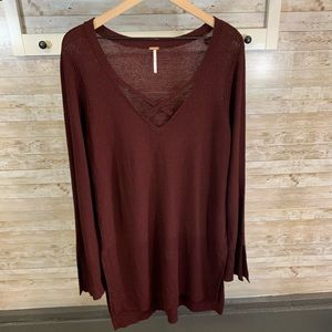 Free People tunic length sweater